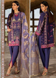 EA-120 Unstitched - Eshaisha Winter Embroidered Collection 2019 - Pakistani Designer Clothes - Memsaab Online