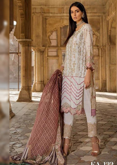 EA-122 Unstitched - Eshaisha Winter Embroidered Collection 2019 - Pakistani Designer Clothes - Memsaab Online