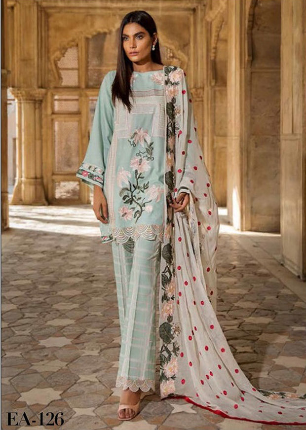 EA-126 Unstitched - Eshaisha Winter Embroidered Collection 2019 - Pakistani Designer Clothes - Memsaab Online