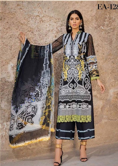 EA-128 Unstitched - Eshaisha Winter Embroidered Collection 2019 - Pakistani Designer Clothes - Memsaab Online