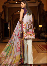 EA-516 Eshaisha Luxury Embroidered Eid Collection - Unstitched Pakistani Designer Suit - Memsaab Online