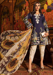 EA-526 Eshaisha Luxury Embroidered Eid Collection - Unstitched Pakistani Designer Suit - Memsaab Online