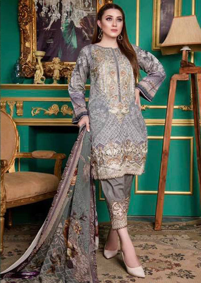92f8aeaa53 EE-115 Unstitched - EshaEman Embroidered Lawn Collection - Pakistani  Designer Premium Lawn Suit Summer