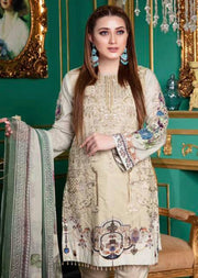 EE-118 Unstitched - EshaEman Embroidered Lawn Collection - Pakistani Designer Premium Lawn Suit Summer 2019 - Memsaab Online