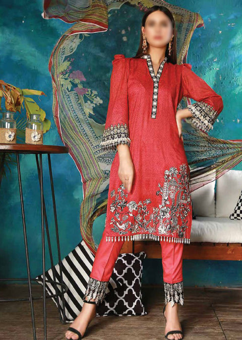 EMM201 - EshaMinhal Lawn Collection by Jubilee textiles - Unstitched Collection 2020 - Memsaab Online