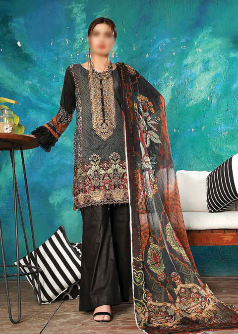 EMM202 - EshaMinhal Lawn Collection by Jubilee textiles - Unstitched Collection 2020 - Memsaab Online