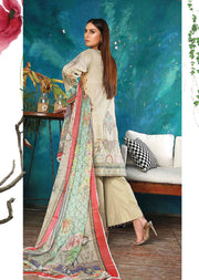EMM203 - EshaMinhal Lawn Collection by Jubilee textiles - Unstitched Collection 2020 - Memsaab Online