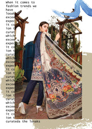 EMM204 - EshaMinhal Lawn Collection by Jubilee textiles - Unstitched Collection 2020 - Memsaab Online
