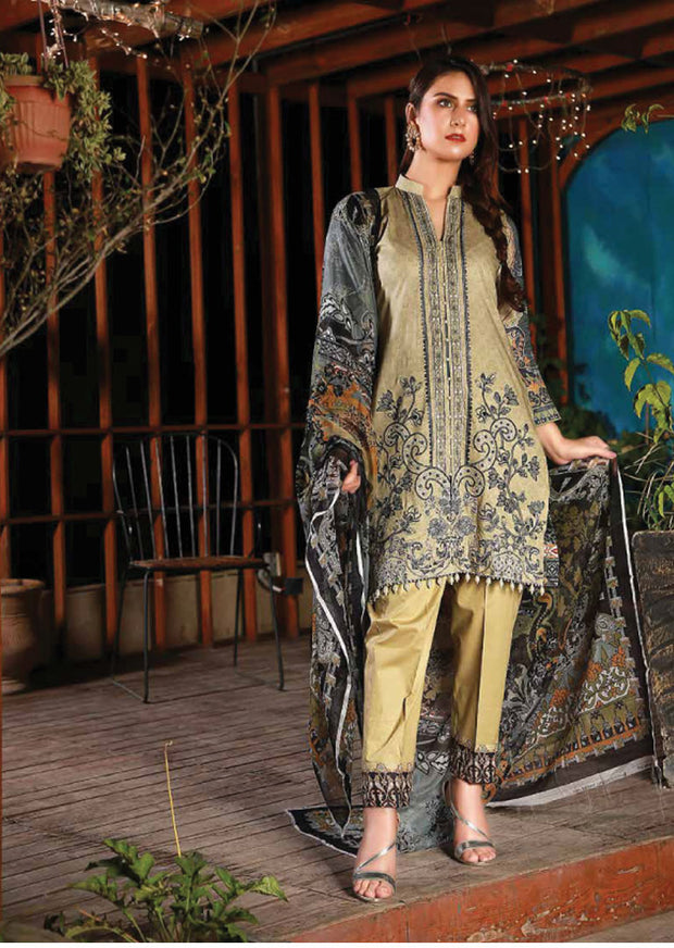EMM205 - EshaMinhal Lawn Collection by Jubilee textiles - Unstitched Collection 2020 - Memsaab Online
