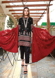 EMM206 - EshaMinhal Lawn Collection by Jubilee textiles - Unstitched Collection 2020 - Memsaab Online