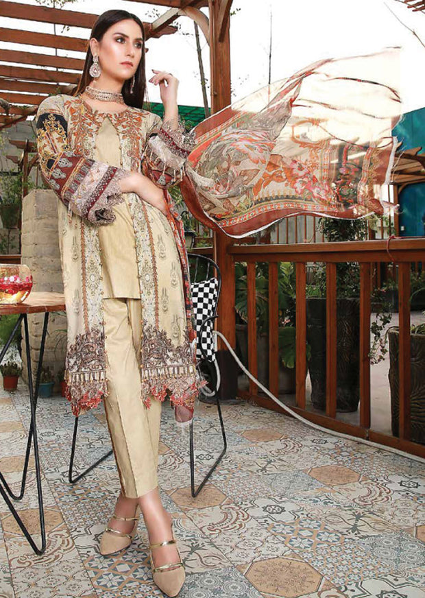 EMM207 - EshaMinhal Lawn Collection by Jubilee textiles - Unstitched Collection 2020 - Memsaab Online