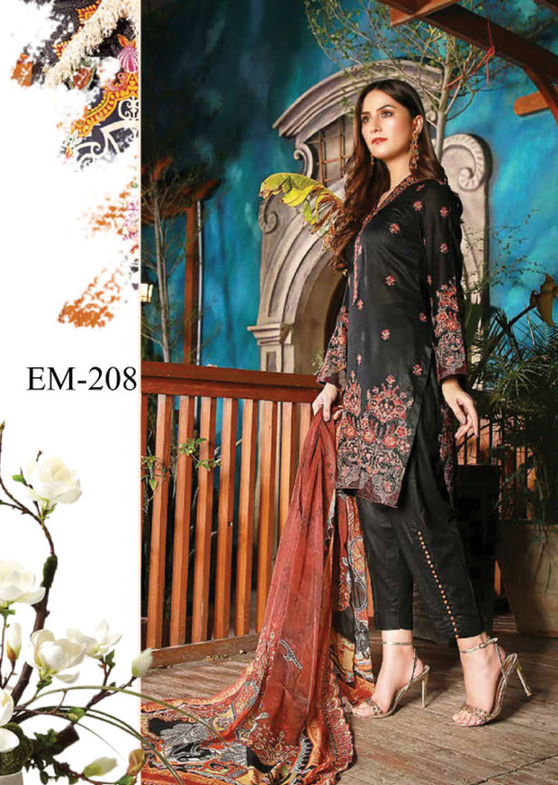 EMM208 - EshaMinhal Lawn Collection by Jubilee textiles - Unstitched Collection 2020 - Memsaab Online