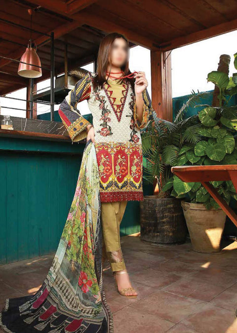EMM209 - EshaMinhal Lawn Collection by Jubilee textiles - Unstitched Collection 2020 - Memsaab Online