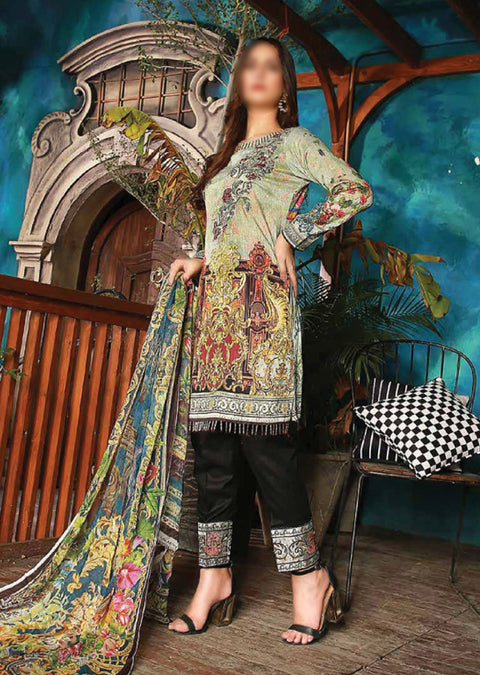 EMM211 - EshaMinhal Lawn Collection by Jubilee textiles - Unstitched Collection 2020 - Memsaab Online