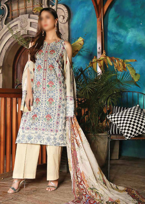 EMM212 - EshaMinhal Lawn Collection by Jubilee textiles - Unstitched Collection 2020 - Memsaab Online