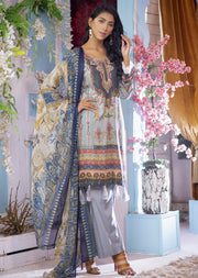 EST208 - Estelle Vol 2 - Readymade Premium Winter Linen Suit with Handwork - Pakistani Designerwear - Memsaab Online