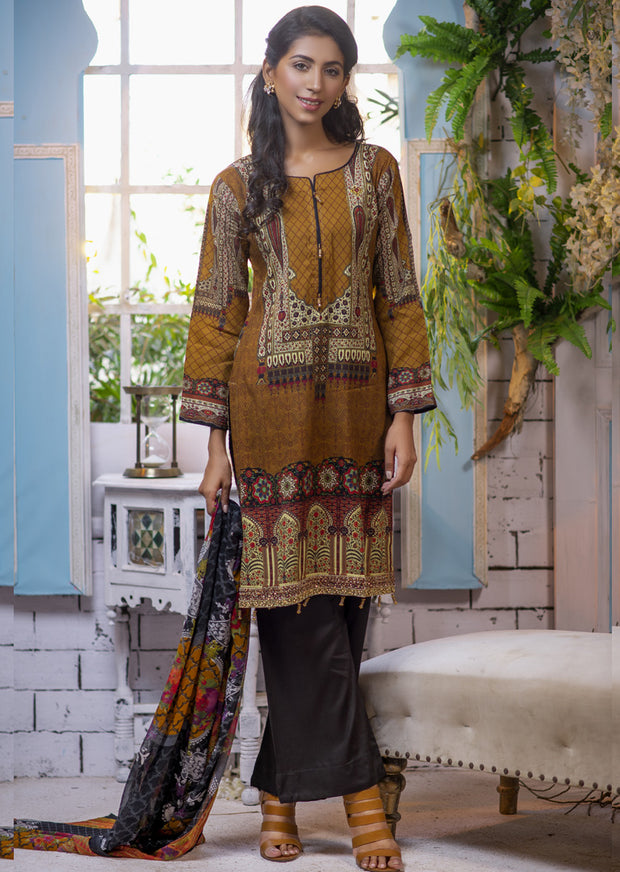 Estelle Vol 2 - Readymade Premium Winter Linen Suit with Handwork - Pakistani Designerwear - Memsaab Online