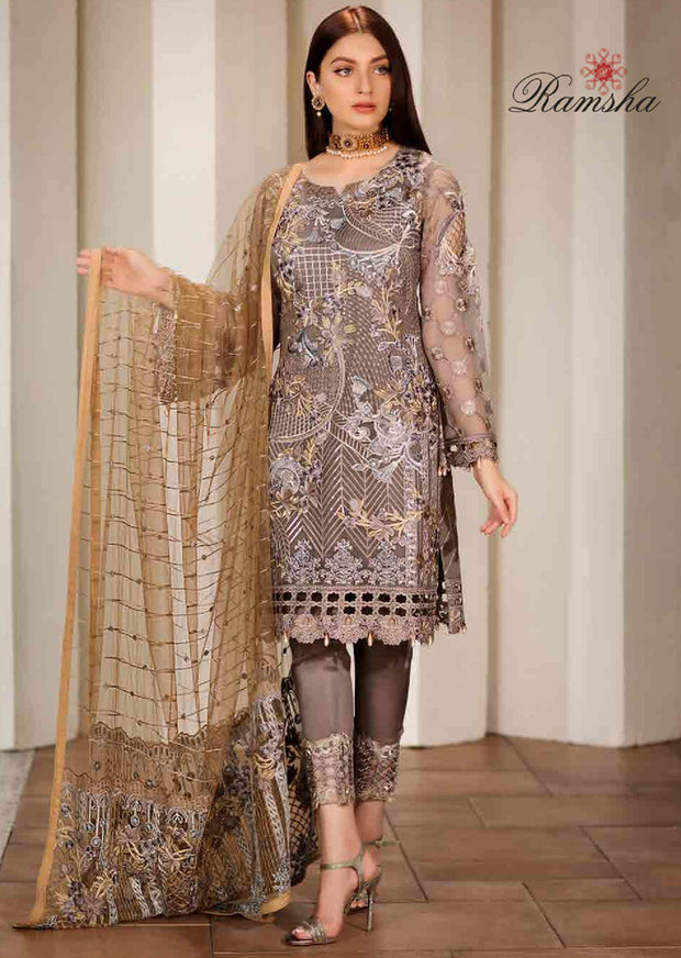 412a266112 F-1701 Readymade Verve Vol 17 Collection by Ramsha - Pakistani designer  chiffon suits -