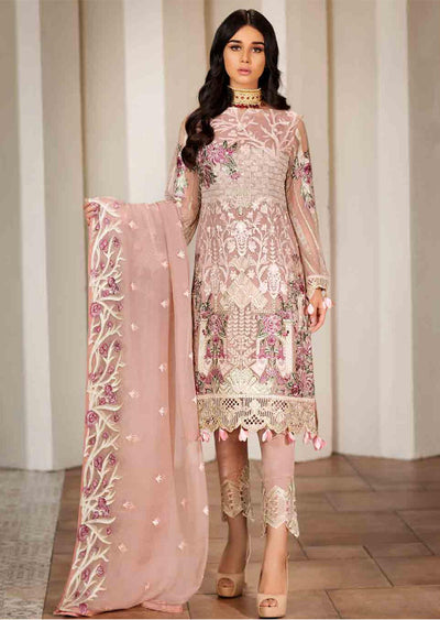F-1702 Unstitched Verve Vol 17 Collection by Ramsha - Pakistani designer chiffon suits - Memsaab Online