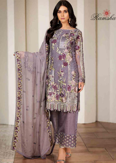 F-1707 Readymade Verve Vol 17 Collection by Ramsha - Pakistani designer chiffon suits - Memsaab Online