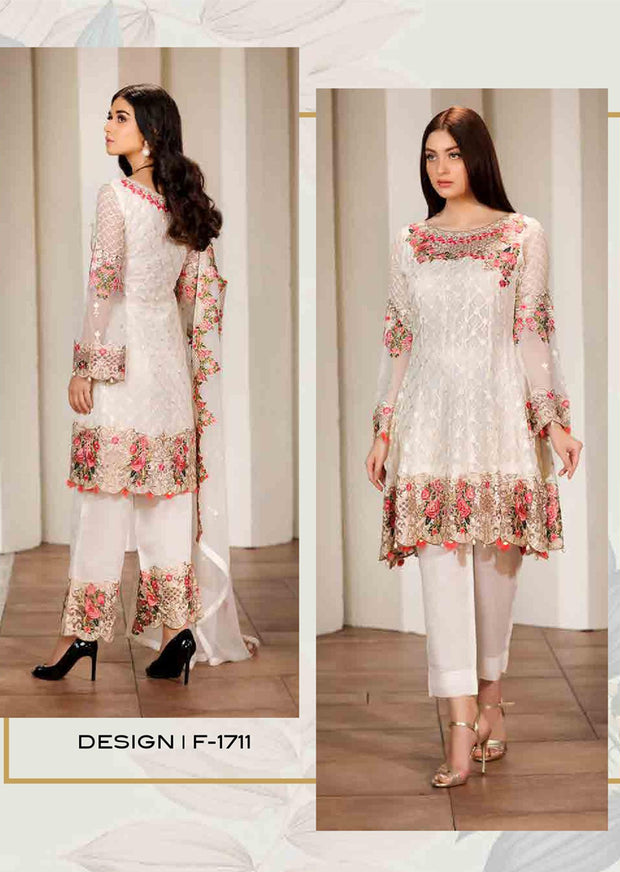 F-1711 Readymade Verve Vol 17 Collection by Ramsha - Pakistani designer chiffon suits - Memsaab Online