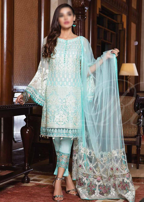 F-1812 Readymade - Ramsha Vol 18 - Mohni chiffon collection - Memsaab Online