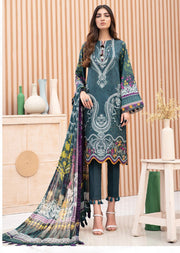 02 Fareesa - Iris Embroidered Lawn Collection Vol 2 by Jazmin - Memsaab Online