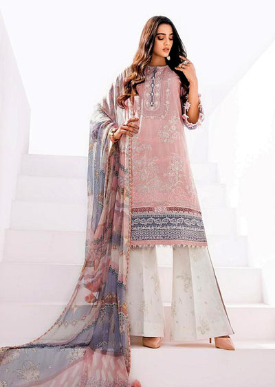 FHD06 Unstitched Fuchsia Inspired Linen Embroidered Suit - Memsaab Online