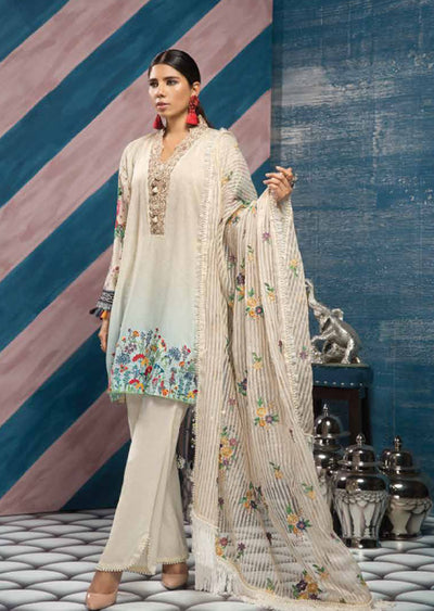 Unstitched - White Florent Luxury Summer Suit 2020 - Memsaab Online