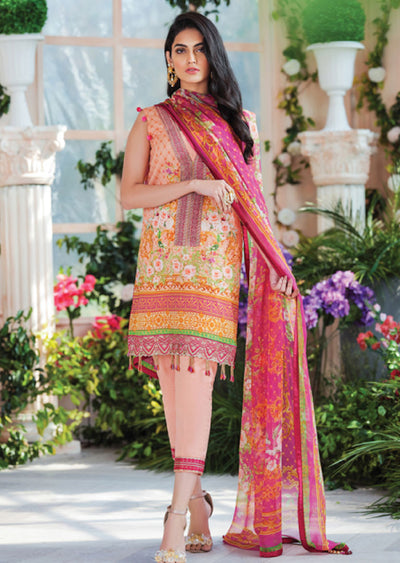Bonita - Cielo Gulaal Embroidered Lawn Unstitched - Memsaab Online