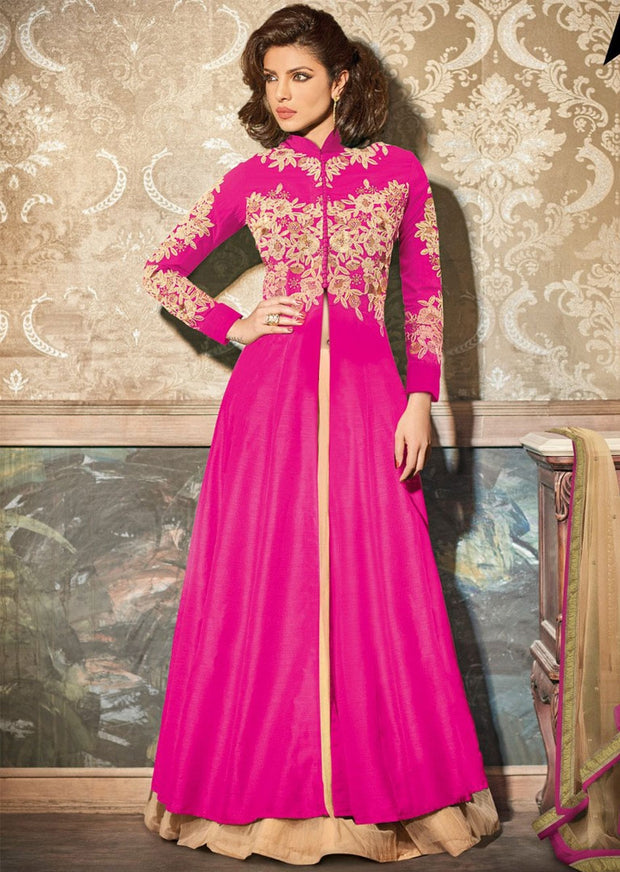 05 HR5129 Heroine Priyanka Chopra Indian Pakistani Fancy Dress Anarkali Suit - Memsaab Online