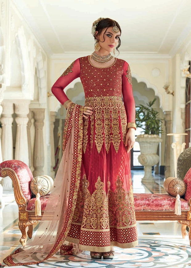 JF7401 Jinaam Floral Mughal Collection - Memsaab Online