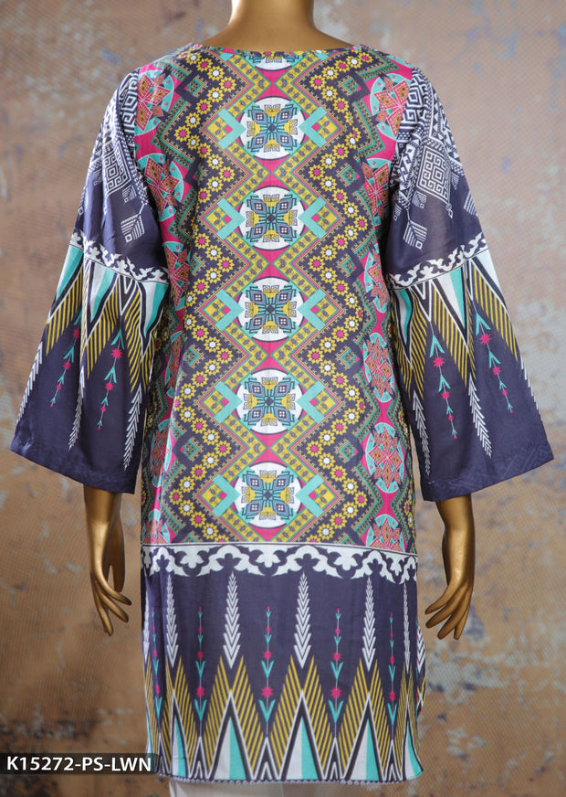 K15272 Sha Posh Blue Readymade Embroidered Summer Lawn Kurti - Memsaab Online