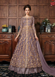 Lilac - Vipul Inspired Anarkali Dress - Unstitched - Indian Bollywood Designer Dress - Memsaab Online