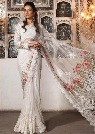 MBD03 - Maria B - Embroidered Heritage Collection 2019 - Unstitched - Pakistani Designerwear - Memsaab Online