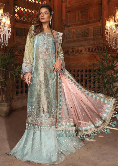 MBD05 - Maria B - Embroidered Heritage Collection 2019 - Unstitched - Pakistani Designerwear - Memsaab Online