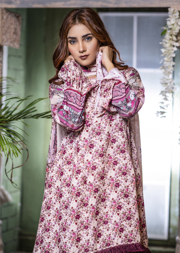 Readymade Gold Printed Winter Suit - Memsaab Online