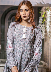 Readymade Grey Printed Winter Suit - Memsaab Online