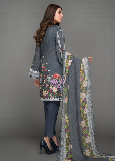 Unstitched Digital Spring/Summer Lawn suit - Mannat by Akbar Aslam - Memsaab Online