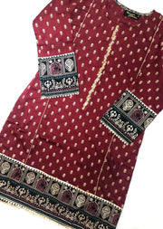 MR910 Readymade Red Silk Kurti