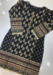 MR909 Readymade Black Silk Kurti
