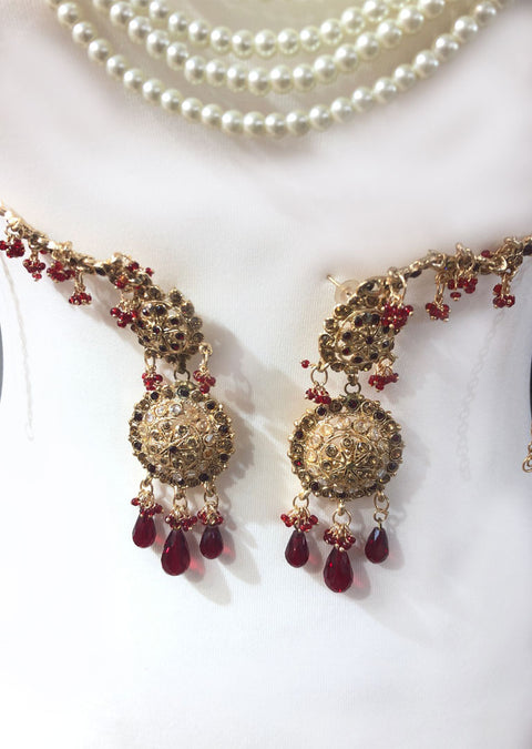 Maroon Necklace set - Memsaab Online