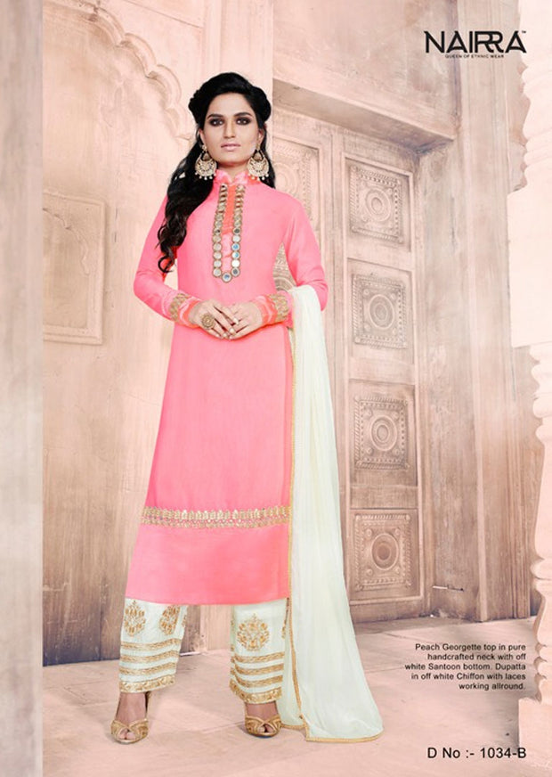 04 NK1034 Pink Nakkashi Essenita Indian Pakistani Mirror Work Sale Bargain Suit Salwar Kameez Original - Memsaab Online