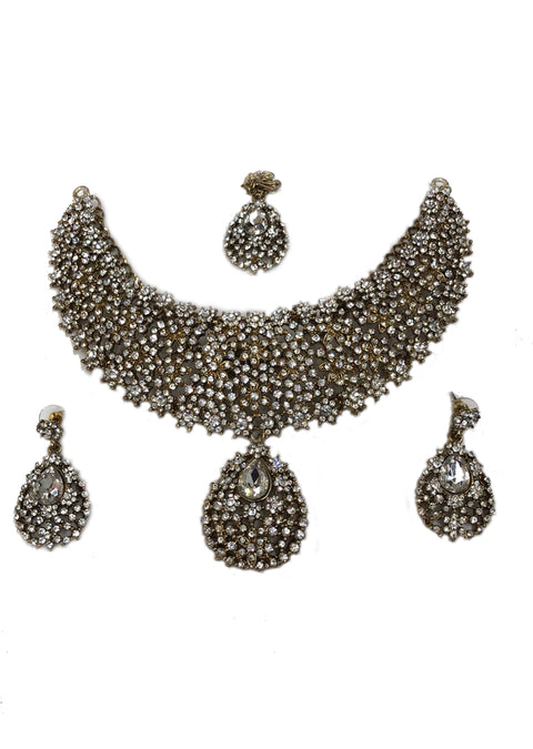 Diamante Necklace Set - Memsaab Online