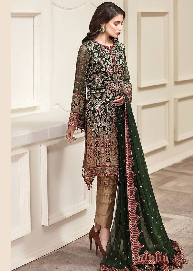 Panache - JAZMÍN Unstitched Amerrati Embroidered Chiffon Collection 2020 - Memsaab Online