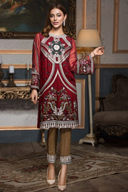 01 Red Devine - Xenia Festive '19 - READYMADE EID COLLETION - Memsaab Online