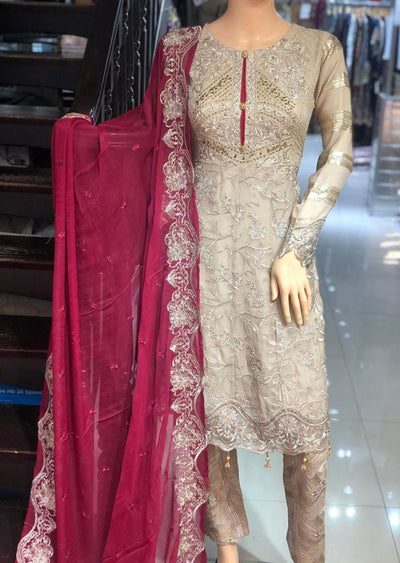 PS1500 Passion - Readymade Gold Shararah Suit - Memsaab Online