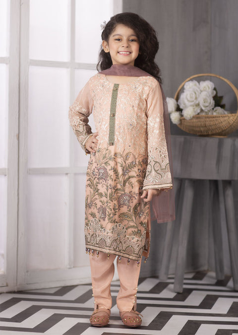 01 - Pink Jasmin - Simran Kids Designer Suit Readymade Collection Vol 4 - Memsaab Online