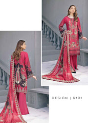 R101R - Readymade - Ramsha Riwayat Luxury Linen Collection 2020 - Memsaab Online