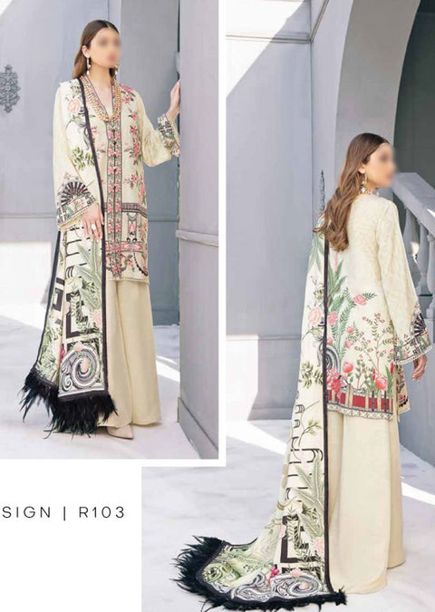 R103R - Readymade - Ramsha Riwayat Luxury Linen Collection 2020 - Memsaab Online